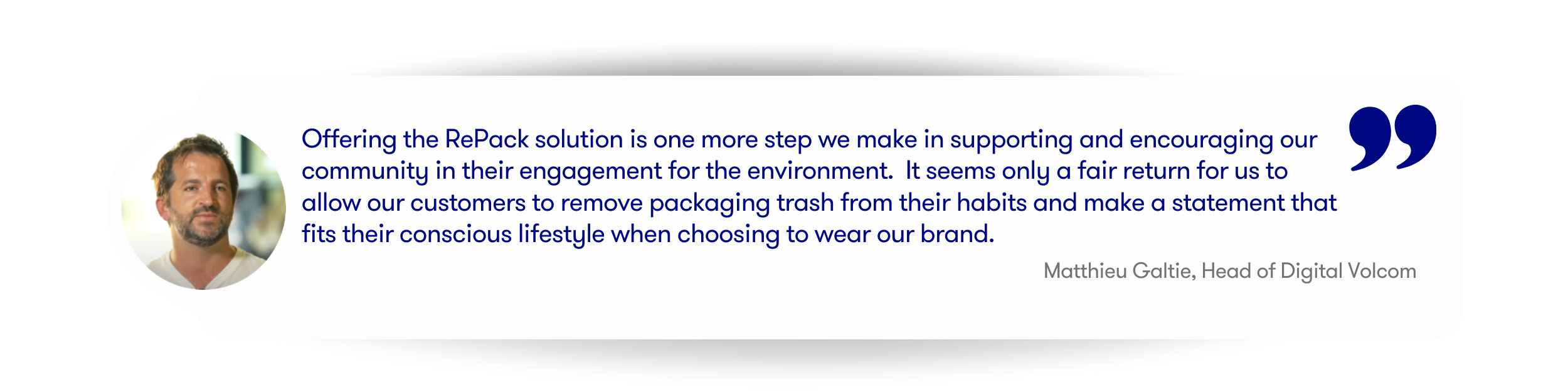 Volcom quote about the RePack experience